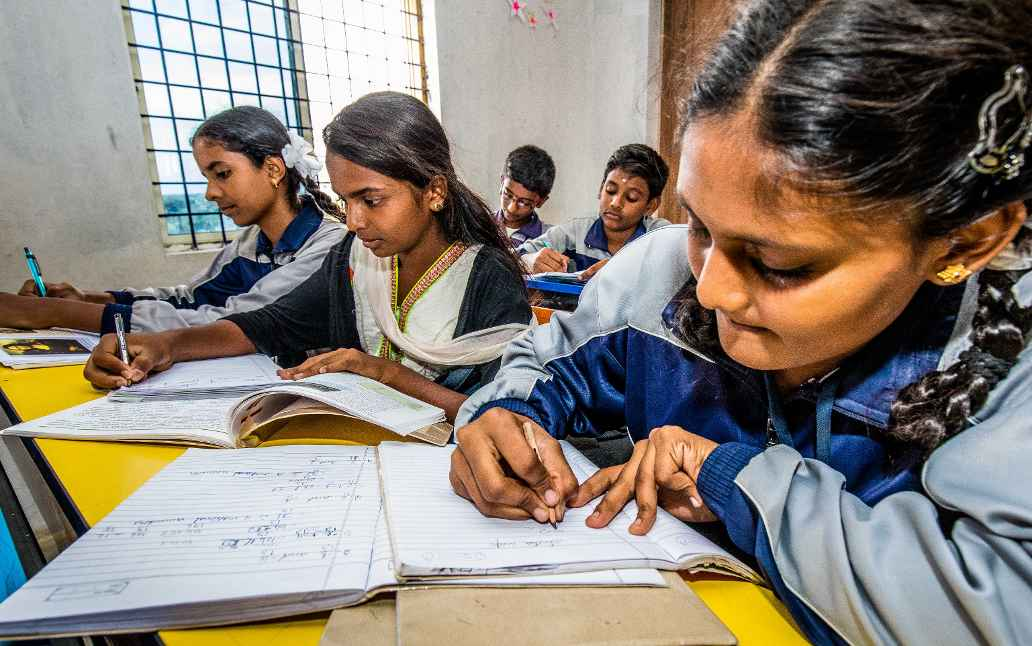 School class in India