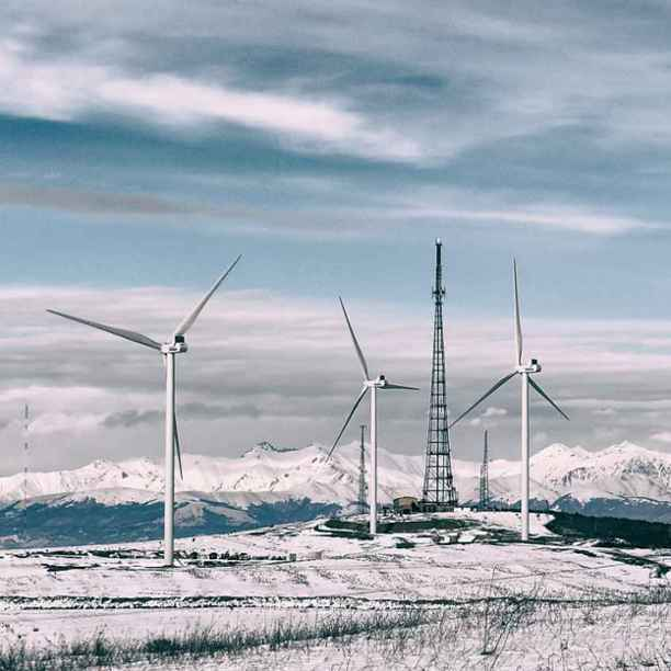 Qartli, the first wind farm in Georgia and the Caucasus Mountains
